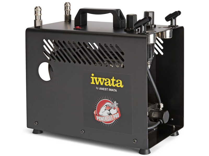 Iwata power jet pro airbrush compressor an oil free twin for Can i use motor oil in my air compressor