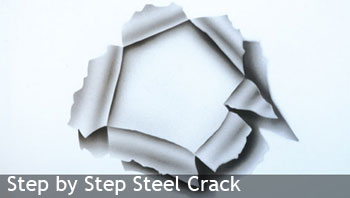 Steel crack airbrush stencil, A4, laser cut & reusable